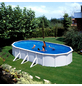 Schwimmbecken »Steely de Luxe «, oval, BxLxH: 80 x 145 x 130 cm-Thumbnail