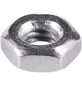 CONNEX Sechskantmuttern, M2, Silber, Stahl-Thumbnail