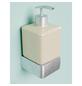 HACEKA Seifenspender »Aline«, Metall/Keramik, glänzend/gebürstet, weiß/chromfarben-Thumbnail