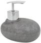 WENKO Seifenspender »Pebble Stone«, Polyresin, grau-Thumbnail