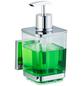WENKO Seifenspender »Quadro«, Höhe: 16 cm, silberfarben/transparent-Thumbnail