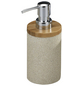 WENKO Seifenspender »Vico «, Polyresin/Bambus, beige-Thumbnail