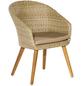 Sessel »Arrone«, BxTxH: 60  x 69  x 83  cm, Aluminium/ Akazienholz/ Kunststoffgeflecht-Thumbnail