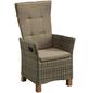 MERXX Sessel »Toskana«, BxTxH: 59  x 65,5  x 110  cm, Aluminium/ Akazienholz/ Kunststoffgeflecht-Thumbnail