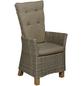 MERXX Sessel »Toskana«, BxTxH: 66  x 61  x 111  cm, Aluminium/ Akazienholz/ Kunststoffgeflecht-Thumbnail