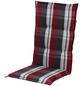 DOPPLER Sesselauflage »Comfort Light«, Niederlehner, rot/grau, kariert, BxL: 50 x 100 cm-Thumbnail