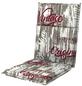 DOPPLER Sesselauflage »Living«, Midilehner, rot/weiss/braun, Vintage, BxL: 48 x 110 cm-Thumbnail