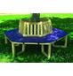 PROMADINO Sitzauflage, Uni, blau, 100 cm x 43 cm-Thumbnail
