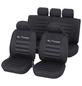 UNITEC Sitzbezug-Set, TUNING, Schwarz, Polyester, 14-tlg., für hinten und vorne-Thumbnail