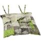 MADISON Sitzkissen »Enjoy Lime«, 1er, grau/beige/grün, tiere/floral/schriftzug, BxL: 46 x 46 cm-Thumbnail