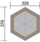 WEKA Sitzlaube »Paradies 1«, sechseckdach zeltdach, sechseckig, BxT: 326 x 376 cm, inkl. Dacheindeckung-Thumbnail