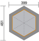 WEKA Sitzlaube »Paradies 2«, sechseckdach|zeltdach, sechseckig, BxT: 399 x 461 cm, inkl. Dacheindeckung-Thumbnail