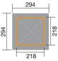 WEKA Sitzlaube »Paradies Größe 1«, Zeltdach, viereckig, BxT: 294 x 294 cm, inkl. Dacheindeckung-Thumbnail