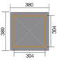 WEKA Sitzlaube »Paradies Größe 3«, Zeltdach, viereckig, BxT: 380 x 380 cm, inkl. Dacheindeckung-Thumbnail
