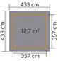 WEKA Sitzlaube »Paradies Größe 4«, Zeltdach, viereckig, BxT: 433 x 433 cm, inkl. Dacheindeckung-Thumbnail