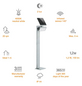 STEINEL Solar-Außenleuchte »X-Solar GL-S«, 1,2 W, inkl. Bewegungsmelder-Thumbnail