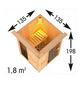 JOKEY Spiegelschrank »Funa«, 3-türig, LED, B x H: 68 x 60 cm-Thumbnail