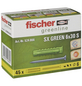 FISCHER Spreizdübel, SX GREEN, Nylon, 45 Stück, 6 x 30 mm-Thumbnail