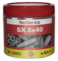 FISCHER Spreizdübel, SX, Nylon, 80 Stück, 8 x 40 mm-Thumbnail