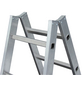 KRAUSE Sprossen-Doppelleiter »STABILO«, Anzahl Sprossen: 12, Aluminium-Thumbnail