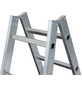 KRAUSE Sprossen-Doppelleiter »STABILO«, Anzahl Sprossen: 20, Aluminium-Thumbnail