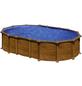 GRE Stahlwand-Pool,  oval, B x L x H: 375 x 610 x 132 cm-Thumbnail