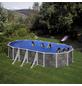 GRE Stahlwand-Pool,  oval, B x L x H: 375 x 730 x 132 cm-Thumbnail