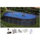 GRE Stahlwand-Pool,  oval, BxLxH: 375 x 730 x 132 cm-Thumbnail