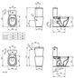 DURAVIT Stand WC »Starck 2«, Tiefspüler, weiß, mit Spülrand-Thumbnail