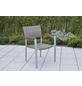 MERXX Stapelsessel »Silano«, BxTxH: 60,5 x 66 x 84 cm, Aluminium/ Kunststoffgeflecht/ Akazienholz-Thumbnail
