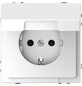 merten Steckdose »System Design«, weiß, Kunststoff/Metall, 250V-Thumbnail