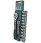 BRUEDER MANNESMANN WERKZEUGE Steckschlüsselsatz 12-teilig, Schlüsselgröße: 10 – 22 mm-Thumbnail