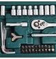 BRUEDER MANNESMANN WERKZEUGE Steckschlüsselsatz, 130-teilig, Schlüsselgröße: 4 - 14 mm-Thumbnail
