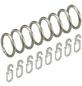 LIEDECO Stilring, Silber, 8 Stück, 16 mm-Thumbnail
