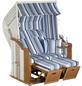 SUNNY SMART Strandkorb »Rustikal 250 Plus «, BxHxT: 125 x 160 x 90 cm, Halblieger, weiß/natur-Thumbnail