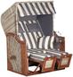 SUNNY SMART Strandkorb »Rustikal 285 Z Sun Edition«, BxHxT: 125 x 160 x 85 cm, Dreiviertelllieger,grau/natur-Thumbnail