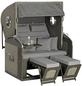 SUNNY SMART Strandkorb »Rustikal 305 Z Comfort XL«, BxHxT: 135 x 160 x 98 cm, Volllieger, grau-Thumbnail