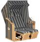 SUNNY SMART Strandkorb »Rustikal 50 Plus«, BxHxT: 120 x 160 x 80 cm, Halblieger, anthrazitfarben/natur-Thumbnail