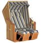 SUNNY SMART Strandkorb »Rustikal«, BxHxT: 120 x 160 x 80 cm, Halblieger, beige/natur-Thumbnail