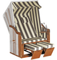SUNNY SMART Strandkorb »Rustikal«, BxHxT: 120 x 160 x 80 cm, Halblieger, weiß/natur-Thumbnail
