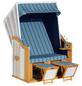 SUNNY SMART Strandkorb »Rustikal«, BxHxT: 125 x 160 x 80 cm, Halblieger, weiß/natur-Thumbnail