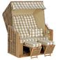 SUNNY SMART Strandkorb »Rustikal«, BxHxT: 140 x 160 x 80 cm, Halblieger, natur/teak-Thumbnail