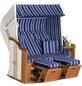 SUNNY SMART Strandkorb »Rustikal«, BxHxT: 145 x 160 x 90 cm, Halblieger, weiß/natur-Thumbnail