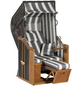 SUNNY SMART Strandkorb »Rustikal«, BxHxT: 95 x 160 x 90 cm, Halblieger, anthrazitfarben/natur-Thumbnail