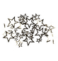 CASAYA Streudeko Sterne Metall silber 2,5 – 4 cm 40 St.-Thumbnail