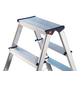 HAILO Stufen-Doppelleiter, Anzahl Sprossen: 14, Aluminium-Thumbnail