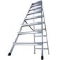 KRAUSE Stufen-Doppelleiter »MONTO«, Anzahl Sprossen: 16, Aluminium-Thumbnail