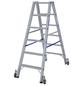 KRAUSE Stufen-Doppelleiter »STABILO«, Anzahl Sprossen: 12, Aluminium-Thumbnail