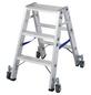KRAUSE Stufen-Doppelleiter »STABILO«, Anzahl Sprossen: 6, Aluminium-Thumbnail