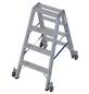 KRAUSE Stufen-Doppelleiter »STABILO«, Anzahl Sprossen: 8, Aluminium-Thumbnail